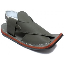 Slate Gray Peshawari Matte Polish Sandals