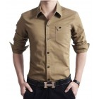 Brown Stylish Pocket Shirt