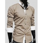Light Brown Stylish Coller Shirt
