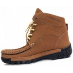Brown Stitched Stylish Casual Boots