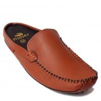 Lacoste Dark Brown Open Back Slippers Designer Shoes