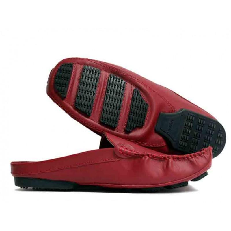 142dcbefa711 Lacoste Maroon Loafer Open Back Slippers Designer Shoes