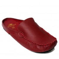 Lacoste Maroon Loafer Open Back Slippers Designer Shoes