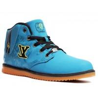 Louis Vuitton Sky Blue Fashion Casual Shoes