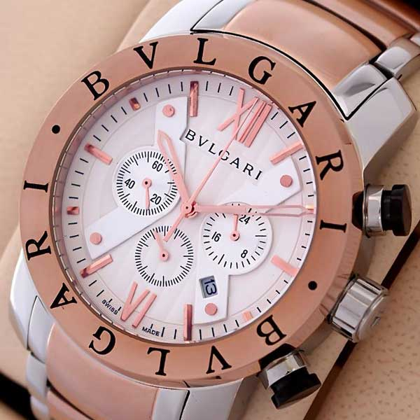 Bvlgari Diagono Chronograph Rose Gold Two Tone Watch