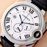 Cartier Ballon Bleu Chronograph Silver Watch