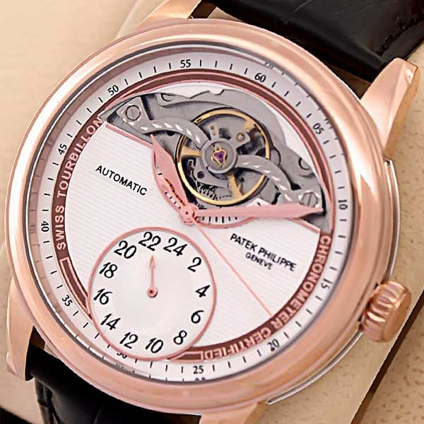 Patek Philippe Rose Automatic Tourbillon Watch