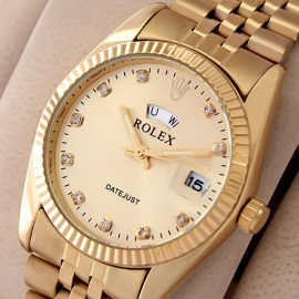 Rolex Yellow Gold Diamond Marker Day N Date Watch