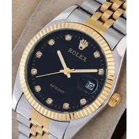 Rolex DateJust Black Jubilee Diamond Watch