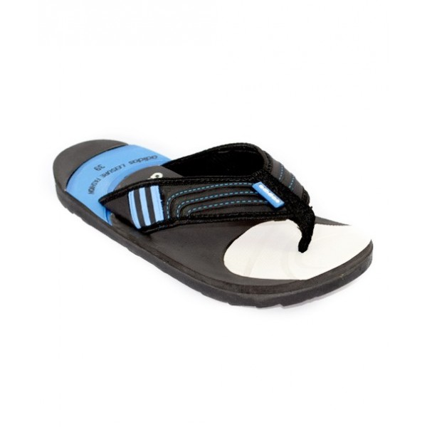 Adidas Black And Blue Flip Flop Slipper