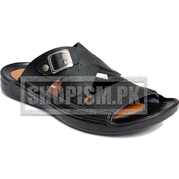 Black Thumb Loop Buckle Slippers