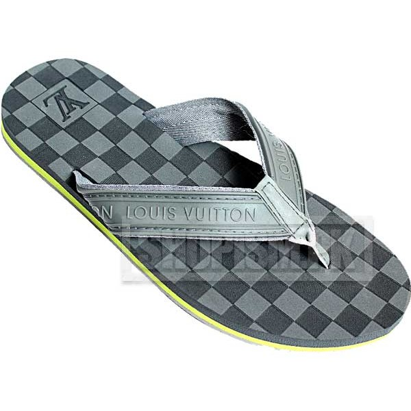 Louis Vuitton Grey Flip Flop Slippers