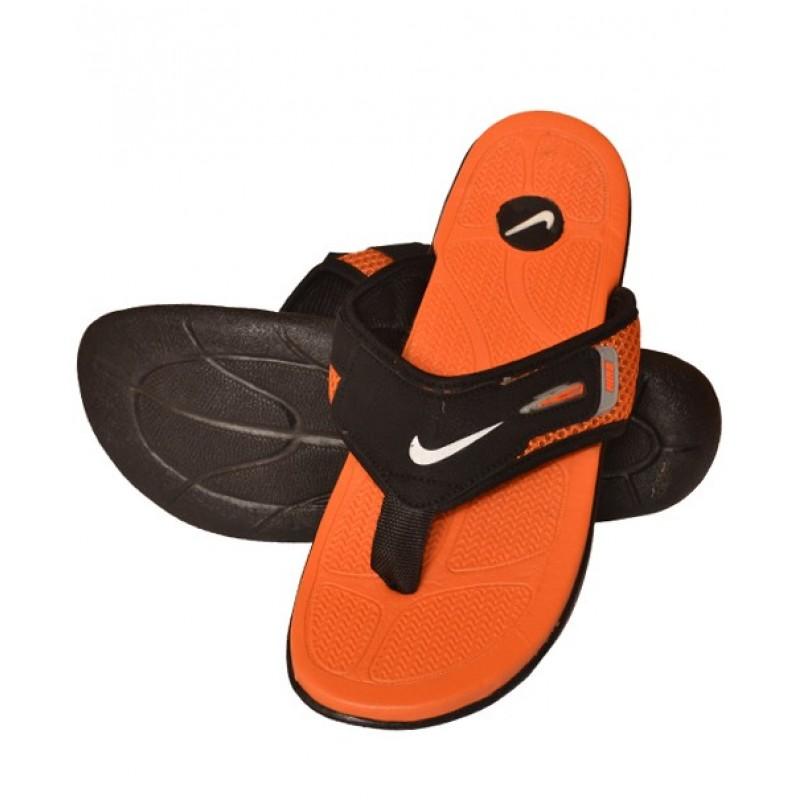 sports shoes 012c2 55bec Nike Orange And Black Flip Flop Slipper