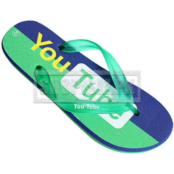 Youtube Green Flip Flop Slippers