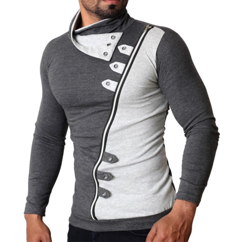 buy zipper loop designer full sleeves t shirt online in